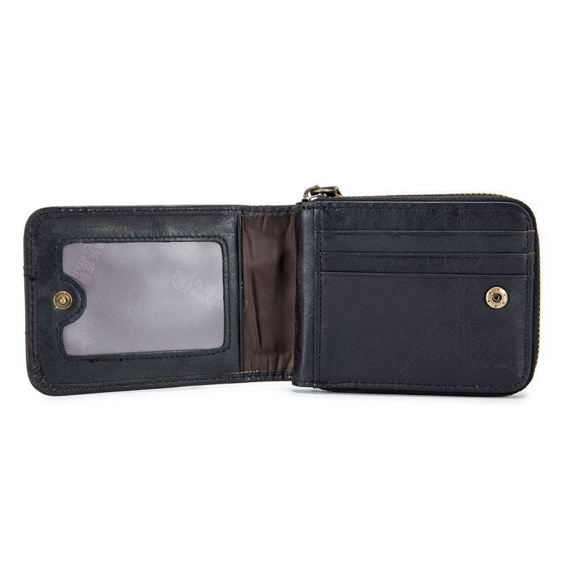 BULLCAPTAIN-Cartera-de-los-hombres-del-cuero-genuino-RFID-que-bloquea-Bifol-L3J3 miniatura 8