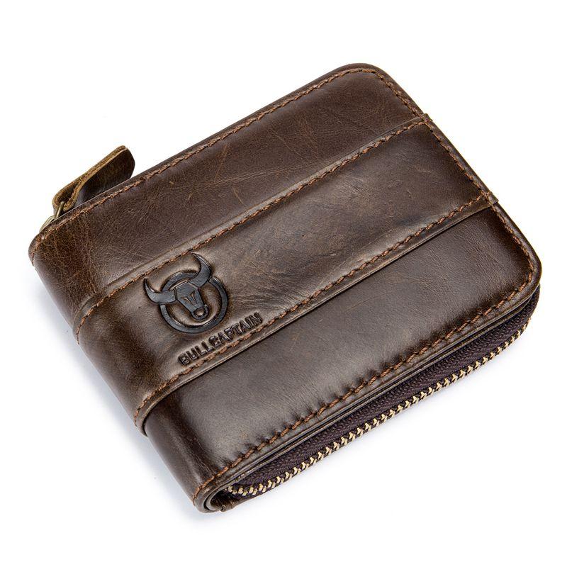 BULLCAPTAIN-Portefeuille-en-cuir-veritable-pour-homme-RFID-Blocage-Vintage-Bi-K5 miniature 14