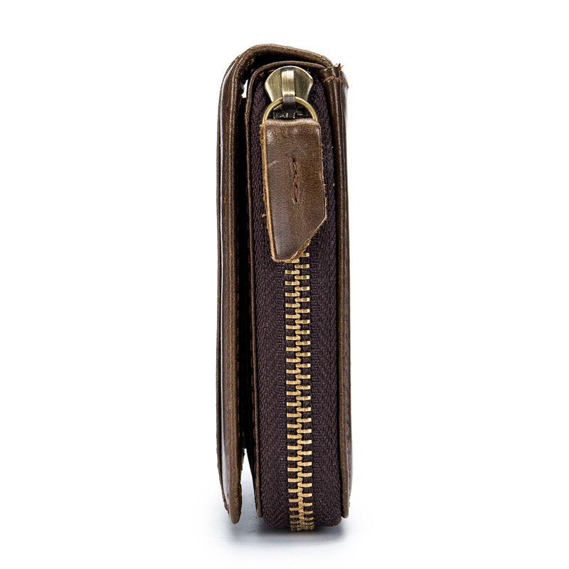 BULLCAPTAIN-Cartera-de-los-hombres-del-cuero-genuino-RFID-que-bloquea-Bifol-W6E2 miniatura 9