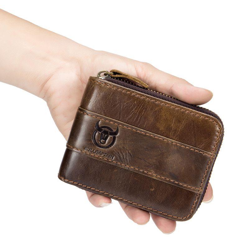 BULLCAPTAIN-Portefeuille-en-cuir-veritable-pour-homme-RFID-Blocage-Vintage-Bi-K5 miniature 21