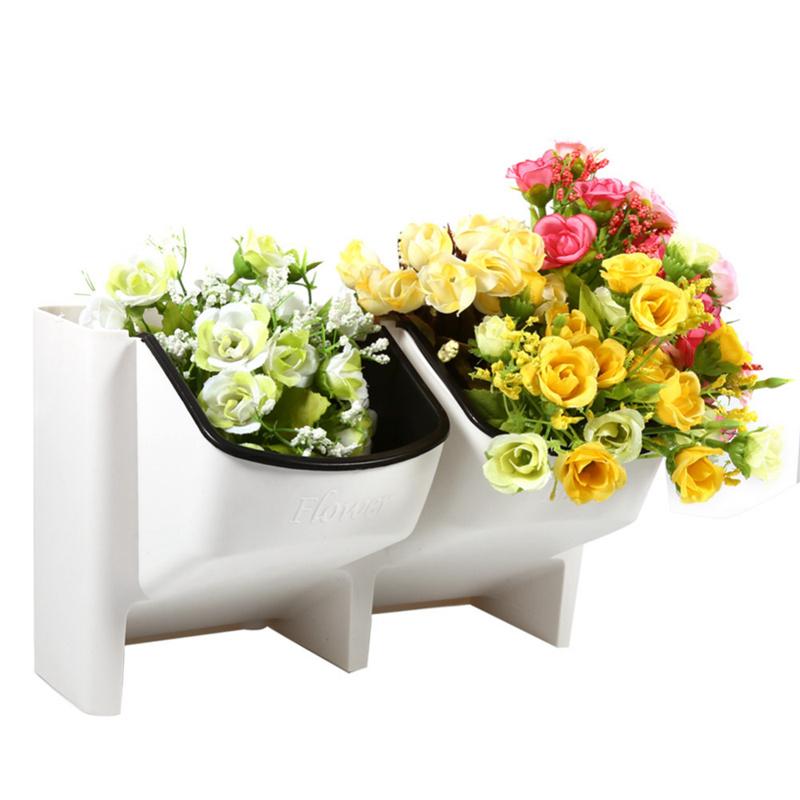 2X(2 Taschen Fettpflanze Wandbehang Vertikale Blumentopf Haus / Garten Indoor 3I