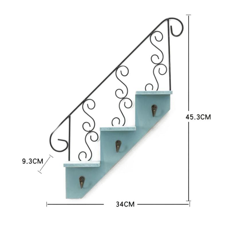 Creatif-stockage-d-039-escalier-de-support-en-bois-style-retro-etagere-a-fleurs-9L3 miniature 3