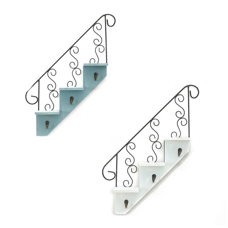 Creatif-stockage-d-039-escalier-de-support-en-bois-style-retro-etagere-a-fleurs-9L3 miniature 6