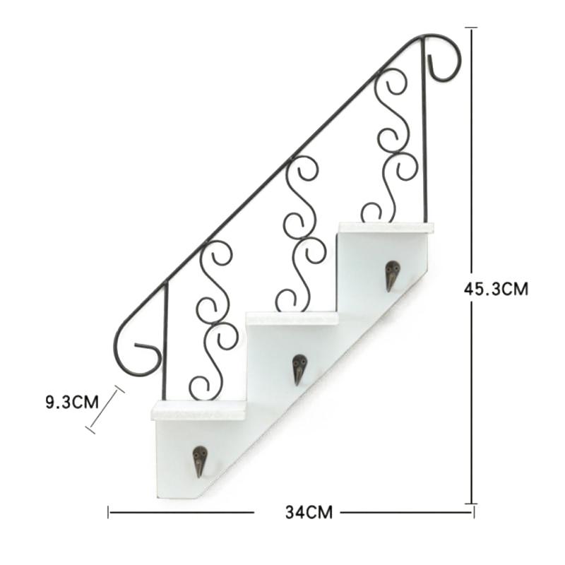 Creatif-stockage-d-039-escalier-de-support-en-bois-style-retro-etagere-a-fleurs-9L3 miniature 11