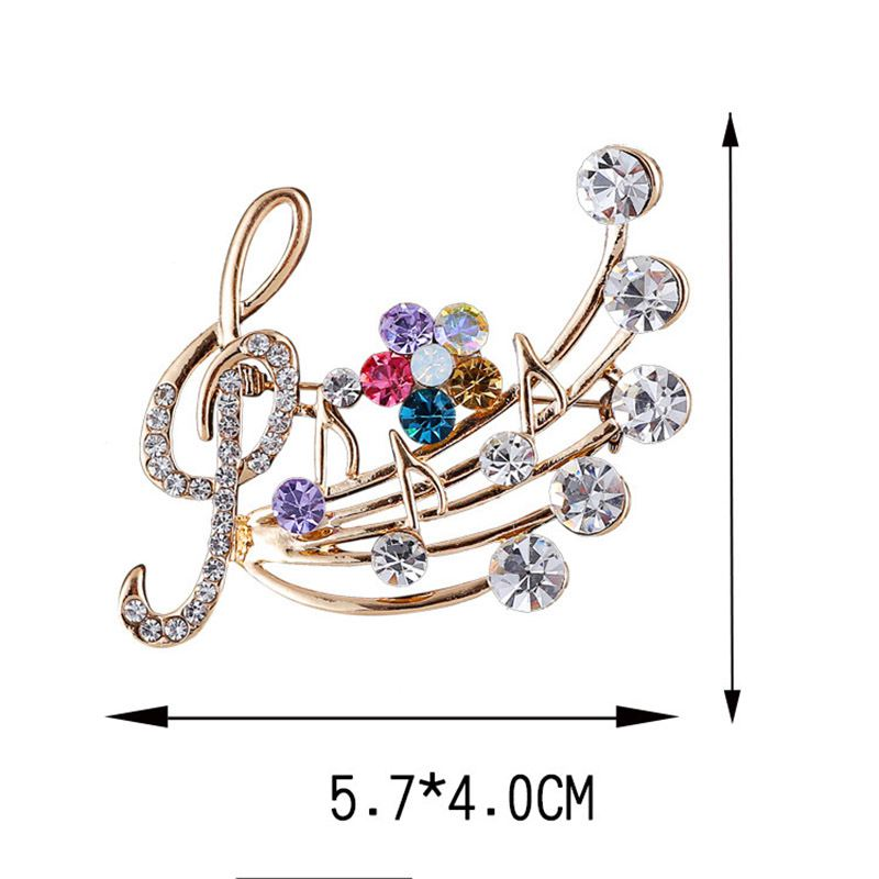 Silver Diamante Treble Clef Music Fashion Brooch Pin Brand New FREE P/&P