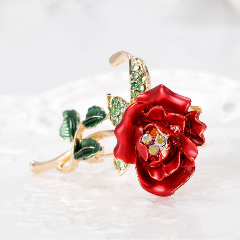 538cc2bac ... Picture 2 of 8; Picture 3 of 8; Picture 4 of 8. 5. Red Rose Flower  Brooch Garment Accessories Wedding Bridal ...