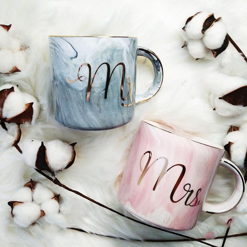 Tasses-en-ceramique-de-marbre-Couple-plaque-or-Cadeau-de-l-039-amant-Tasse-du-m-A9Y9 miniature 4