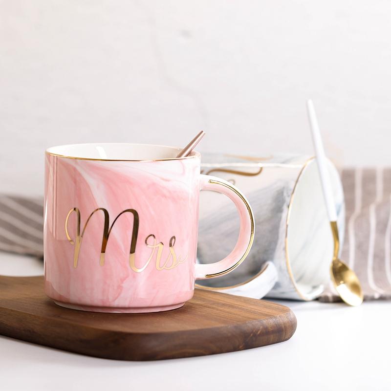 Tasses-en-ceramique-de-marbre-Couple-plaque-or-Cadeau-de-l-039-amant-Tasse-du-m-A9Y9 miniature 6