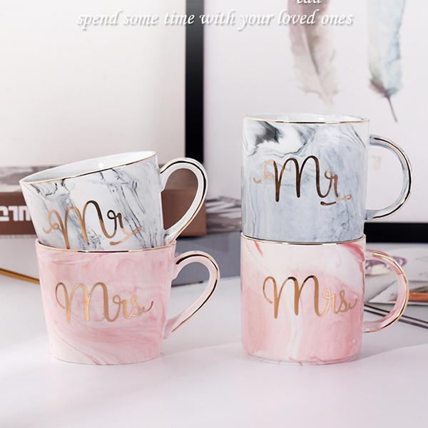 Tasses-en-ceramique-de-marbre-Couple-plaque-or-Cadeau-de-l-039-amant-Tasse-du-m-A9Y9 miniature 9
