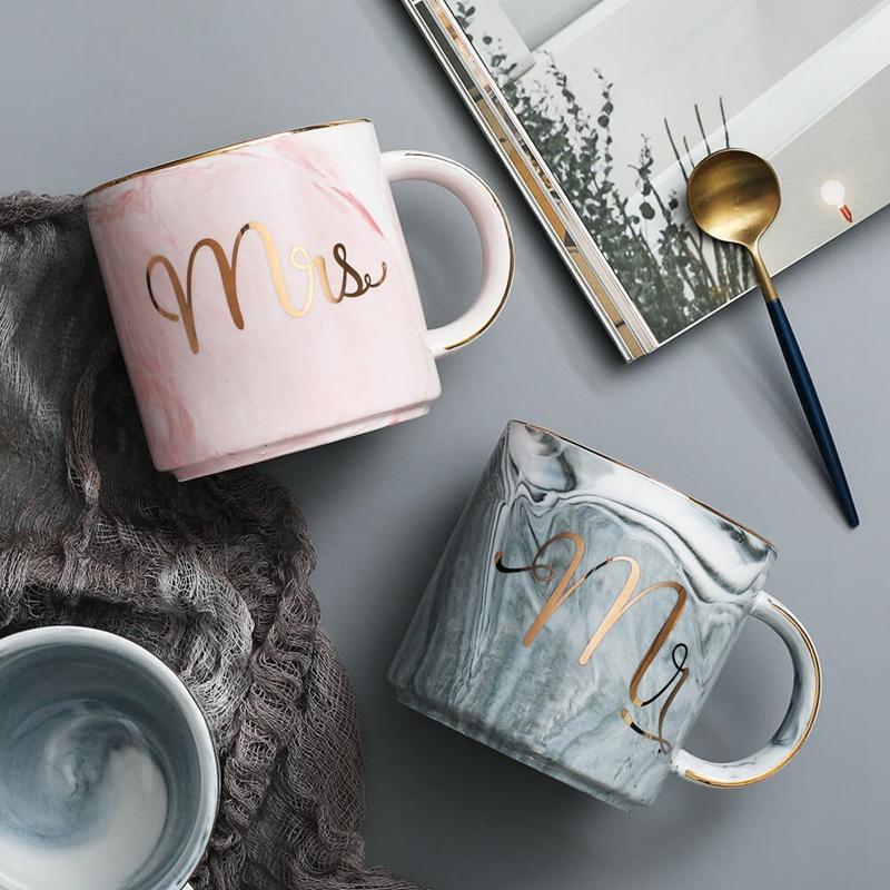 Tasses-en-ceramique-de-marbre-Couple-plaque-or-Cadeau-de-l-039-amant-Tasse-du-m-A9Y9 miniature 10