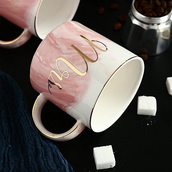Tasses-en-ceramique-de-marbre-Couple-plaque-or-Cadeau-de-l-039-amant-Tasse-du-m-A9Y9 miniature 11
