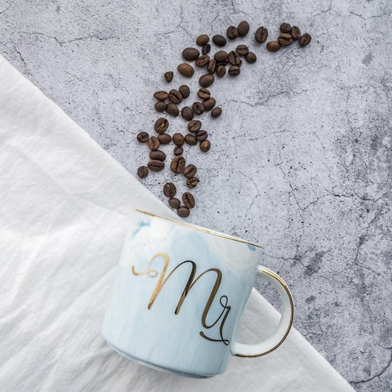Tasses-en-ceramique-de-marbre-Couple-plaque-or-Cadeau-de-l-039-amant-Tasse-du-m-A9Y9 miniature 16