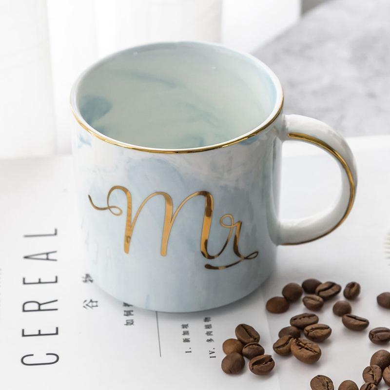 Tasses-en-ceramique-de-marbre-Couple-plaque-or-Cadeau-de-l-039-amant-Tasse-du-m-A9Y9 miniature 19