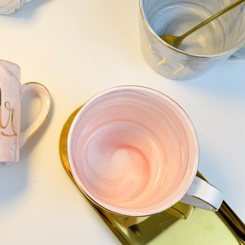 Tasses-en-ceramique-de-marbre-Couple-plaque-or-Cadeau-de-l-039-amant-Tasse-du-m-A9Y9 miniature 24