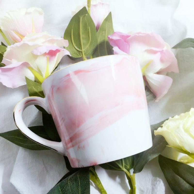 Tasses-en-ceramique-de-marbre-Couple-plaque-or-Cadeau-de-l-039-amant-Tasse-du-m-A9Y9 miniature 27