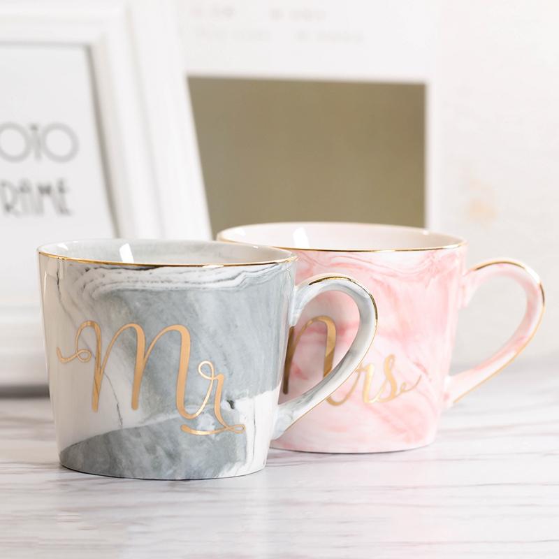 Tasses-en-ceramique-de-marbre-Couple-plaque-or-Cadeau-de-l-039-amant-Tasse-du-m-A9Y9 miniature 32
