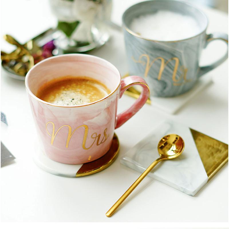 Tasses-en-ceramique-de-marbre-Couple-plaque-or-Cadeau-de-l-039-amant-Tasse-du-m-A9Y9 miniature 35