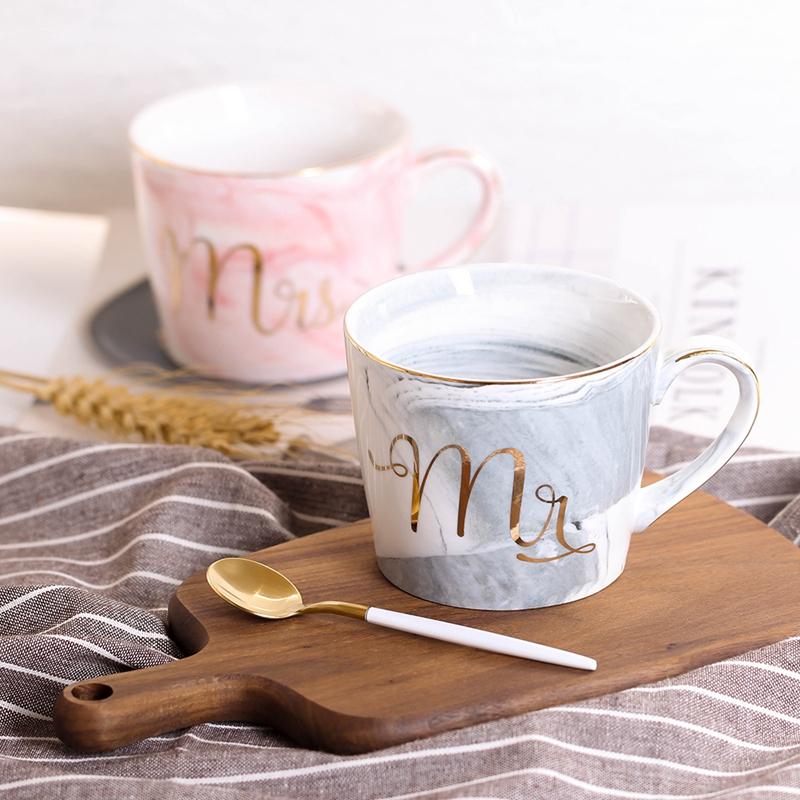 Tasses-en-ceramique-de-marbre-Couple-plaque-or-Cadeau-de-l-039-amant-Tasse-du-m-A9Y9 miniature 36