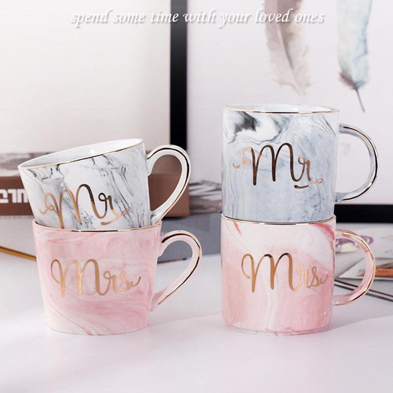 Tasses-en-ceramique-de-marbre-Couple-plaque-or-Cadeau-de-l-039-amant-Tasse-du-m-A9Y9 miniature 37