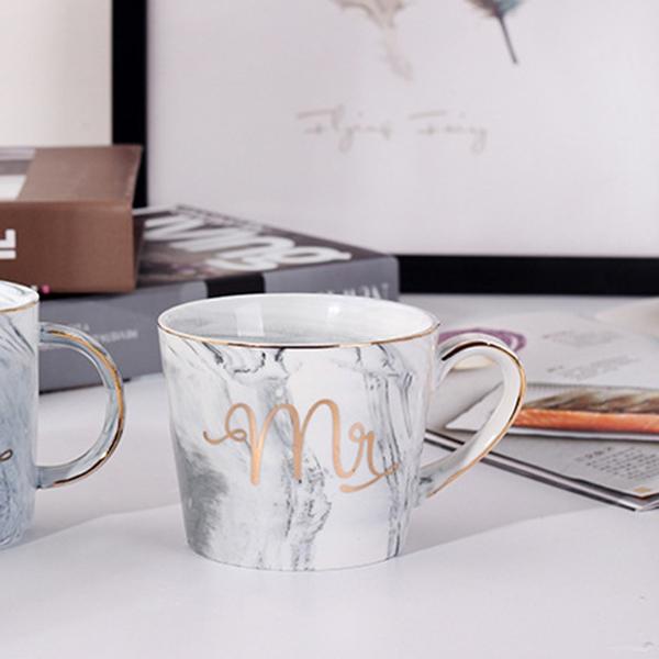 Tasses-en-ceramique-de-marbre-Couple-plaque-or-Cadeau-de-l-039-amant-Tasse-du-m-A9Y9 miniature 38