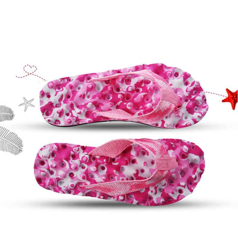 2X-Zapatillas-De-Espiga-De-Camuflaje-De-Mujer-Sandalias-De-Fondo-De-Masaje-S8G7 miniatura 12