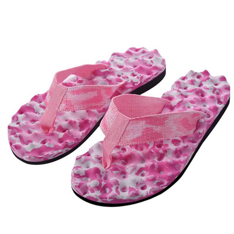 2X-Zapatillas-De-Espiga-De-Camuflaje-De-Mujer-Sandalias-De-Fondo-De-Masaje-S8G7 miniatura 14