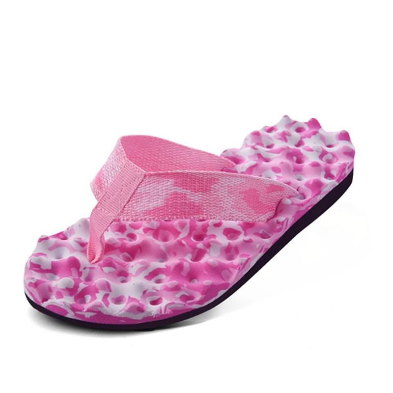 2X-Zapatillas-De-Espiga-De-Camuflaje-De-Mujer-Sandalias-De-Fondo-De-Masaje-S8G7 miniatura 15