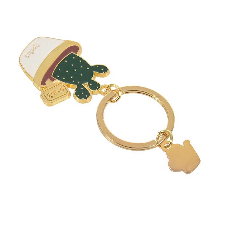 New-Cute-Potted-Plant-Cactus-Shape-Key-Ring-Keychains-Keyrings-Chain-for-Wo-N9K5 thumbnail 3