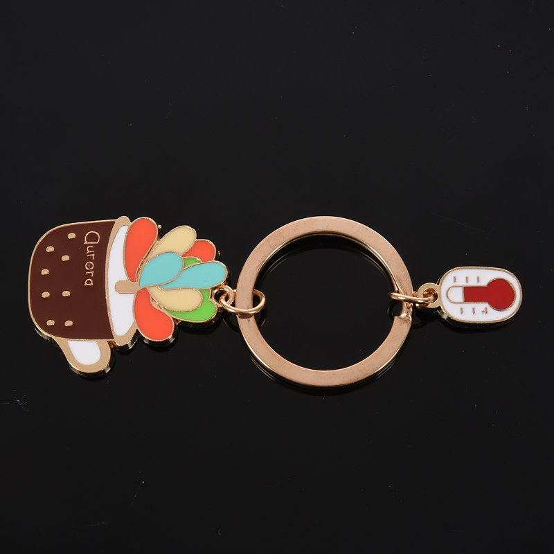 New-Cute-Potted-Plant-Cactus-Shape-Key-Ring-Keychains-Keyrings-Chain-for-Wo-N9K5 thumbnail 14