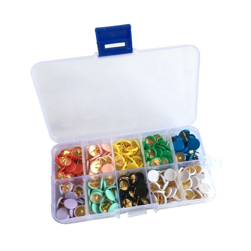 ebay head office. 300 PCS Thumbtack Plastic Round Head Office Thumb Tacks 2/5 Inch Assorted 9  N7R0 Ebay Head Office