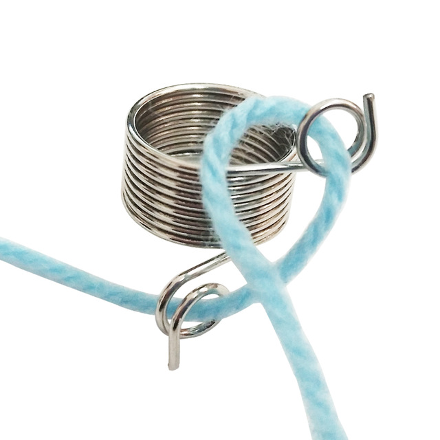 Nickle Plated Wire Yarn Stranding Guide Knitting Thimble for ...