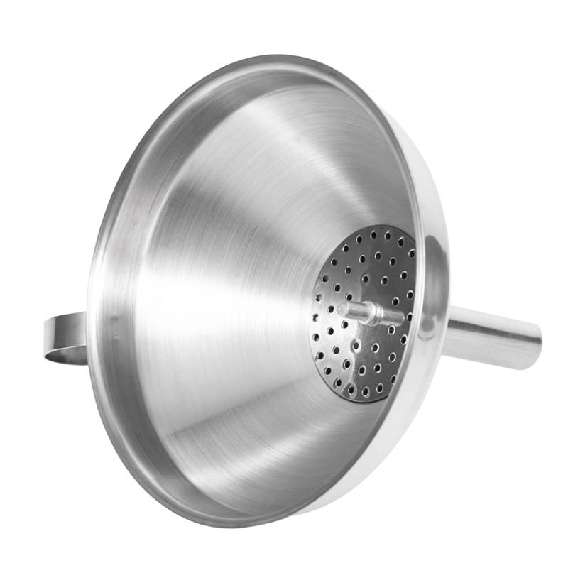 Entonnoir-de-cuisine-en-acier-inoxydable-Filtre-detachable-pour-transferer-C8Y1 miniature 4