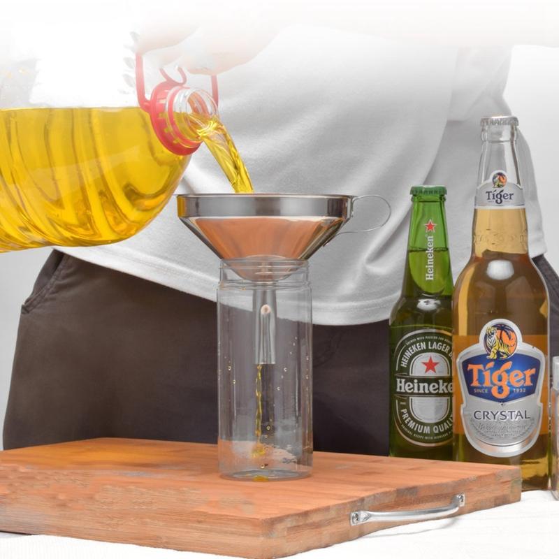Entonnoir-de-cuisine-en-acier-inoxydable-Filtre-detachable-pour-transferer-C8Y1 miniature 9
