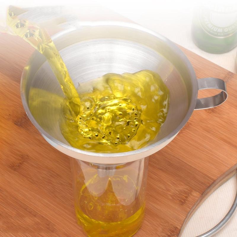 Entonnoir-de-cuisine-en-acier-inoxydable-Filtre-detachable-pour-transferer-C8Y1 miniature 10
