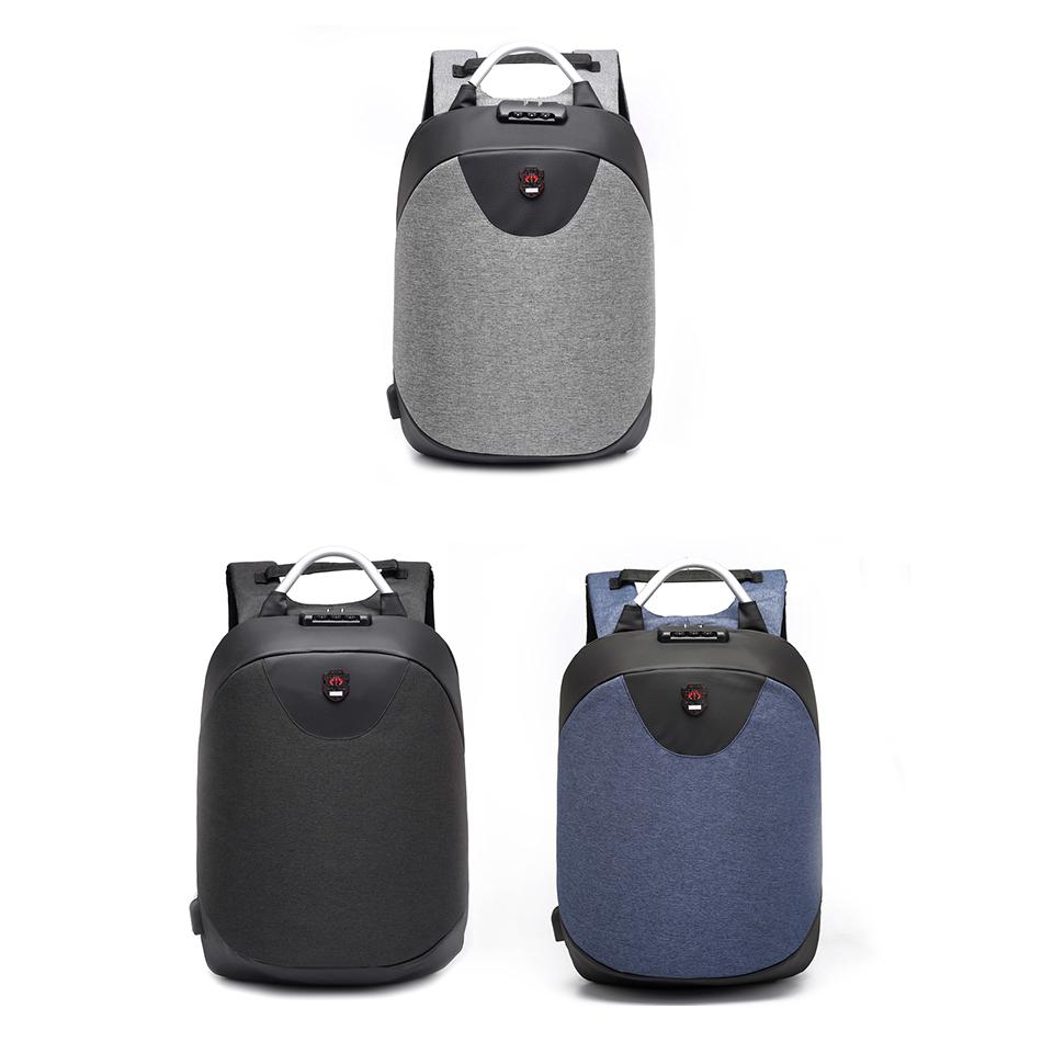 15.6 Zoll Laptop Rucksack Maenner Wasserdicht Rucksack Casual Reise Busines D8Q1