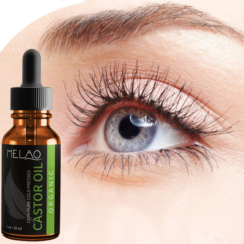 Melao Natural Organic Castor Oil Eyelashes Eyebrow Growth Liquid No