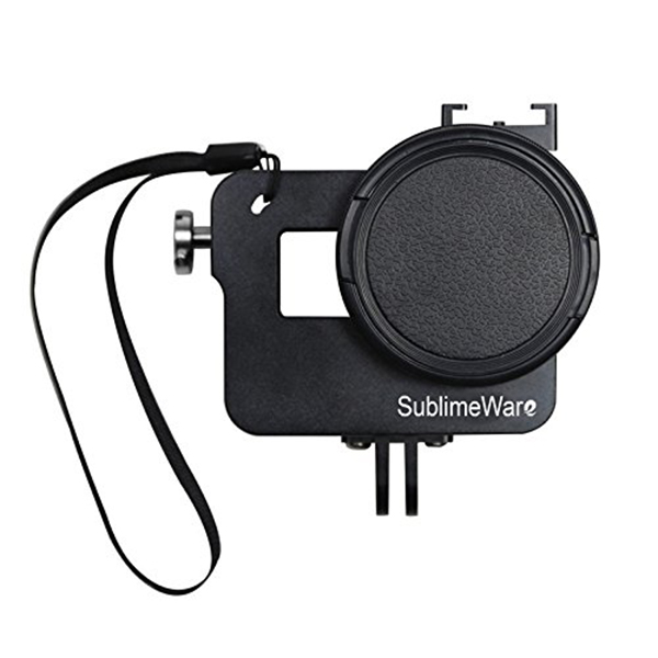 Black 52m UV Filter mit GoPro Aluminium Gehaeuse Gehaeuse CNC Rahme N8W5 SHOOT