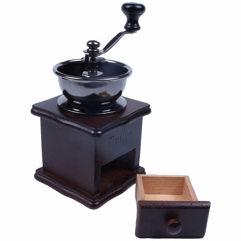 Mini Grain de cafe Epice Vintage Style Meuleuse a main en Bois U7Q6 4