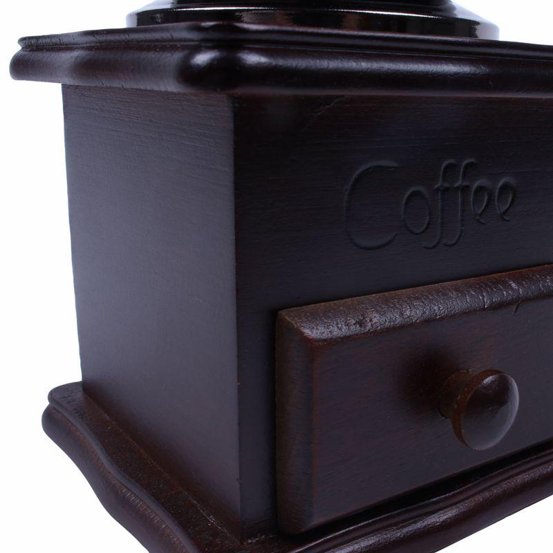 Mini Grain de cafe Epice Vintage Style Meuleuse a main en Bois U7Q6 7