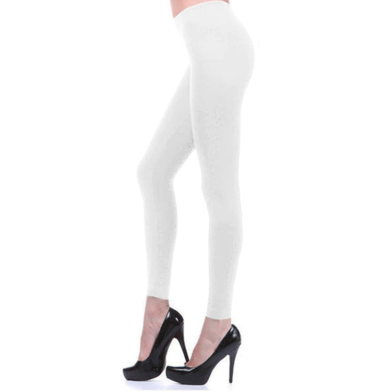 Womens Ankle Length Footless Tights Pantyhose Seamless