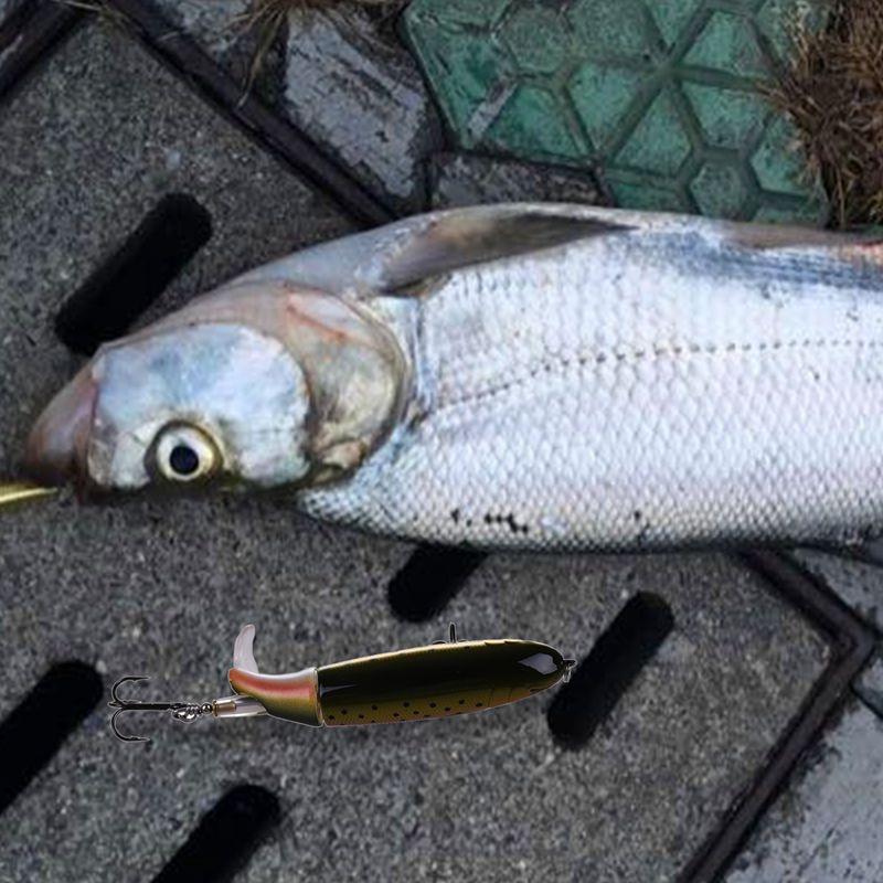 Whopper-Popper-Topwater-Senuelo-de-la-pesca-13g-9cm-Artificial-cebo-duro-pe-H7D4 miniatura 10