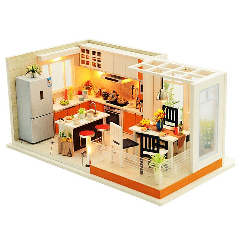 Cucine moderne fatte a mano Mobili casa delle bambole In miniatura ...