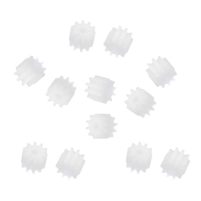20Pcs 6mm x 2mm 10 plastic teeth sprocket gear box for toy car engine shaft B8M6