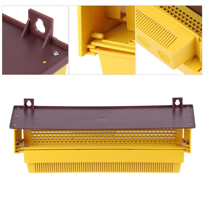 Beekeeping-Plastic-Pollen-Trap-Yellow-with-Removable-Ventilated-Pollen-Tray-Q7H4
