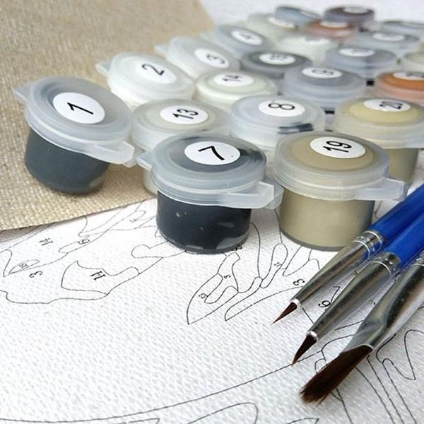 Bricolaje cuadros sin marco pintura Animal Digital al oleo sobre ...