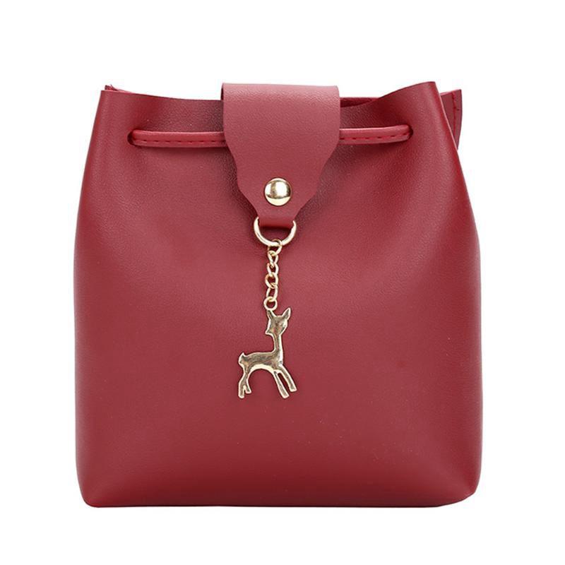 Small Bag Women Deer Bucket Handbags Las Satchel Mini Shoulder Messe Y5x7
