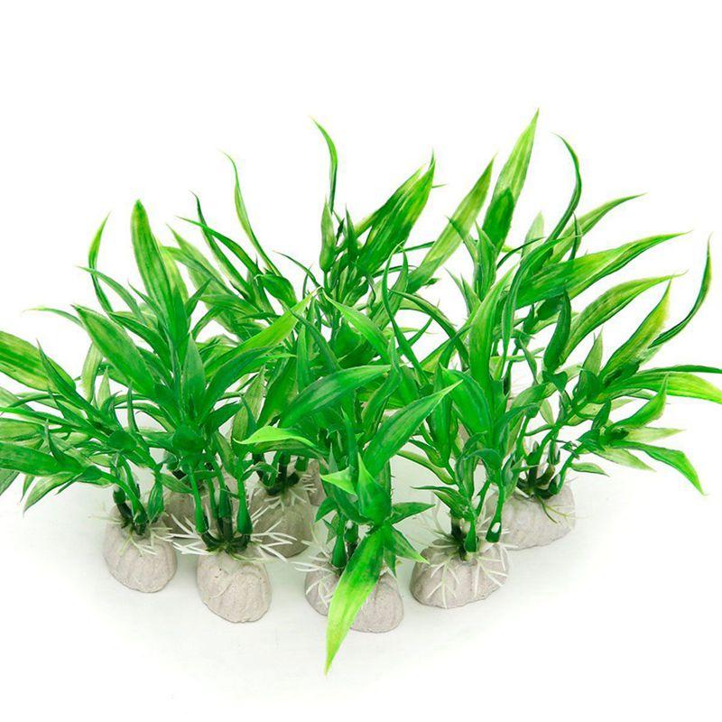 Paquet-de-10-Plantes-artificielles-d-039-aquarium-10cm-de-hauteur-Decorations-P1T8