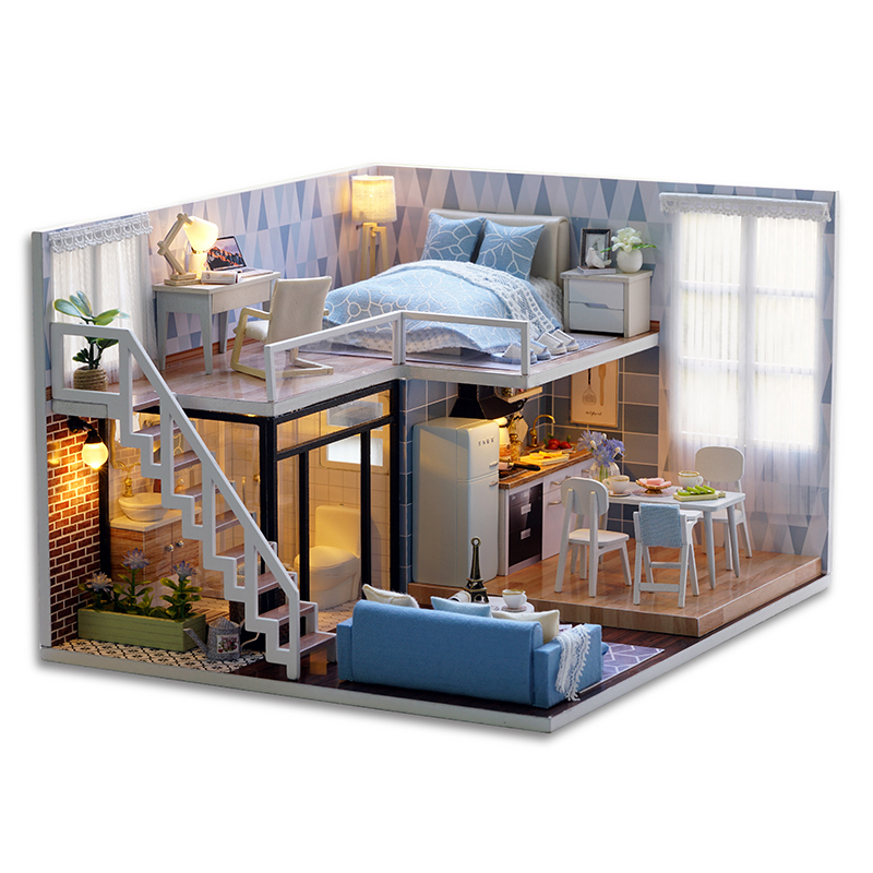 diy doll furniture. Image Is Loading DIY-Doll-House-Wooden-Doll-Houses-Miniature-dollhouse- Diy Doll Furniture