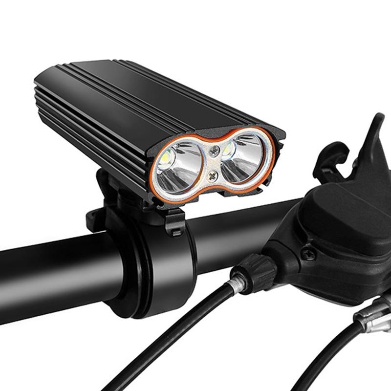 5X(Batterie integree Usb rechargeable Lumiere de bicyclette Lumiere de velo  I8)