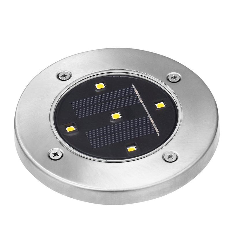 2X(5 LED Energie solaire De plein air Jardin Chemin Eclairage Cour Pelouse D6K6) 3